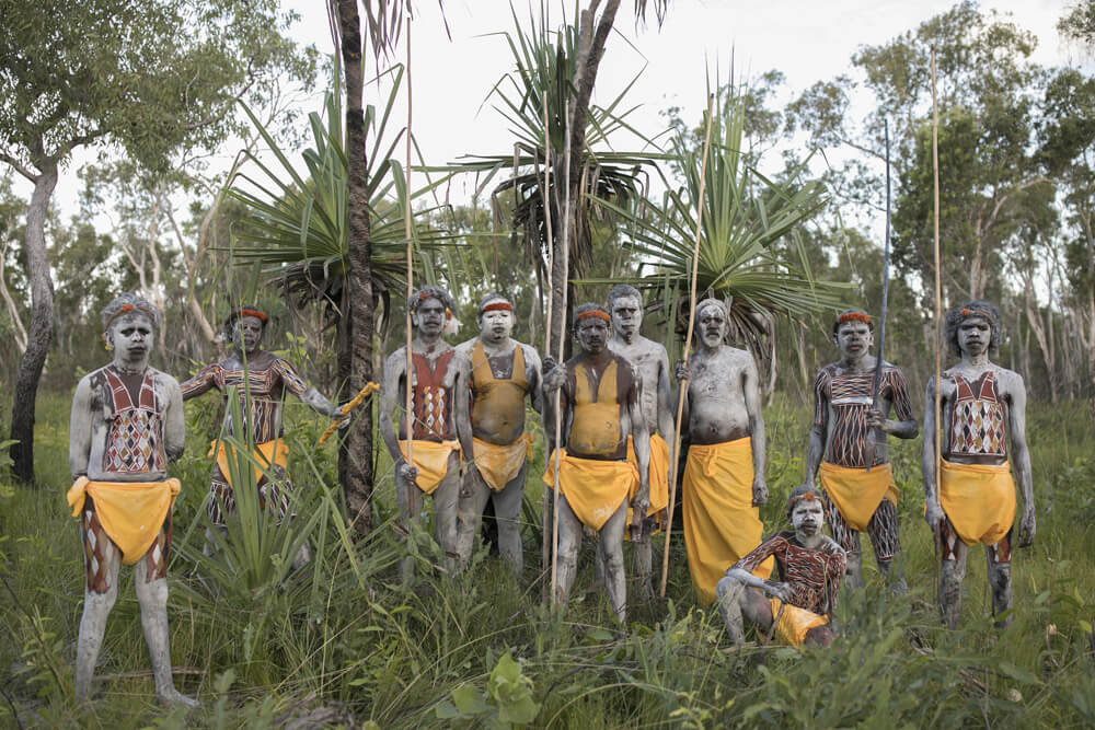 portrait of the Wardaman people before a Bungar ceremony, image by Dylan River