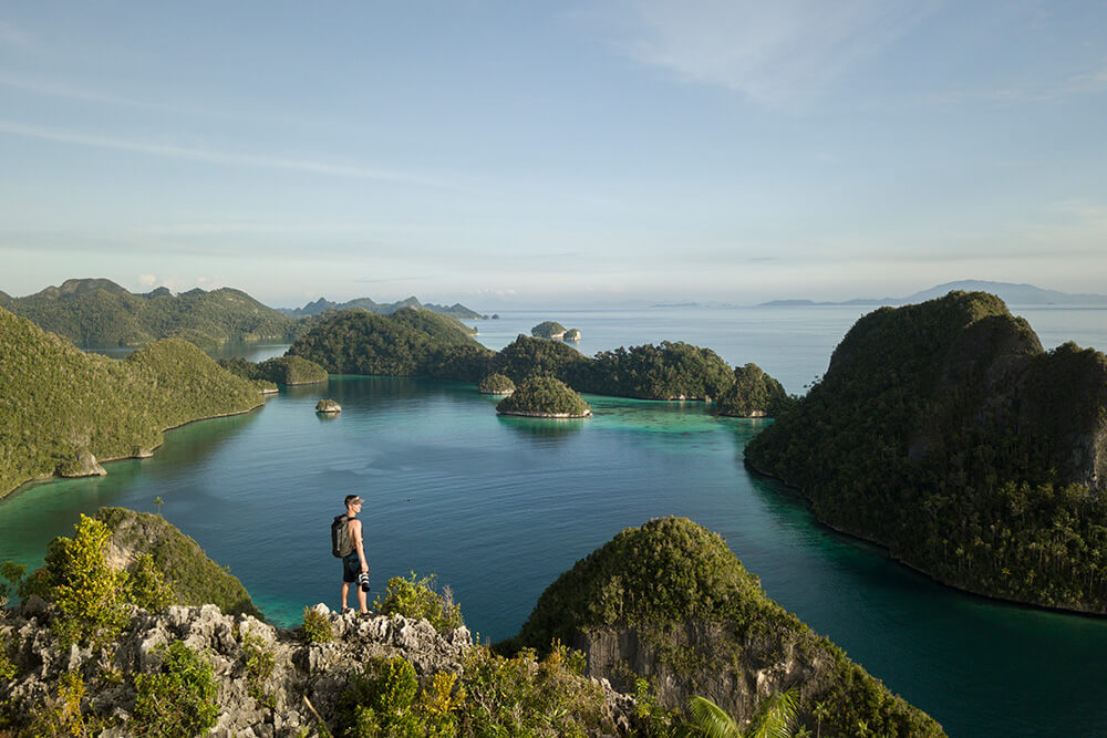 photo of Shawn Heinrichs in the Raja Ampat region