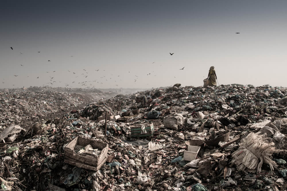 Image of a slum in Bangladesh