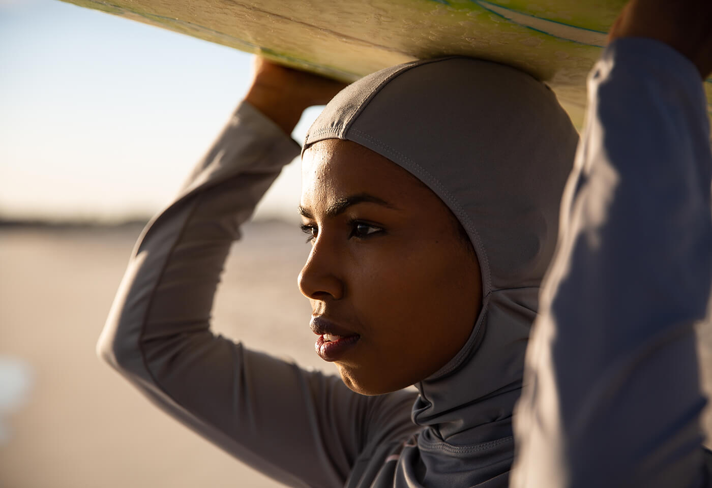 photo of a Muslim surfer. Image by Attila Csaszar