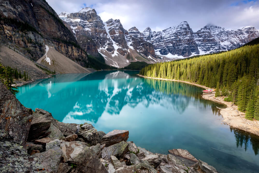 Photo of Morraine Lake. Image by Tony Irving