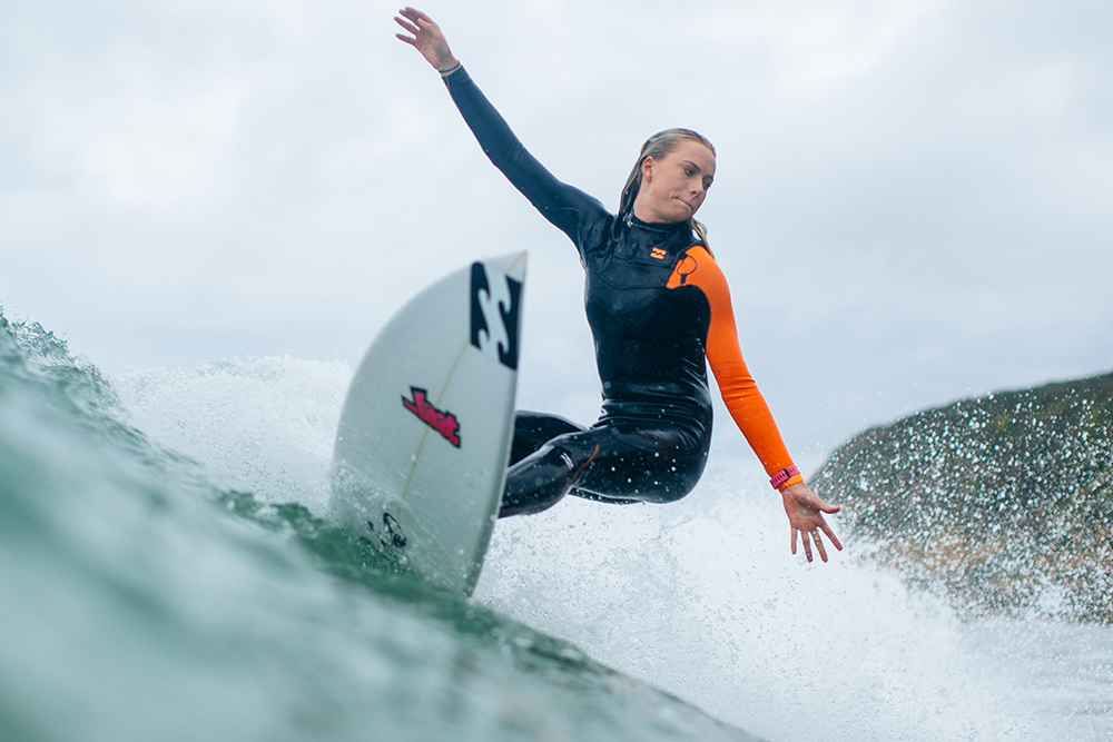 Image of surfer Macy Callaghan by Ed Sloane