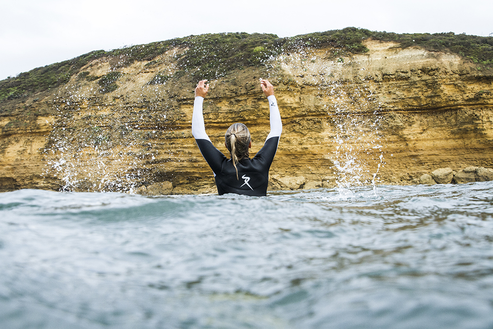 Picture of surfer Sally Fitzgibbons taken by Fran Miller at Bells Beach