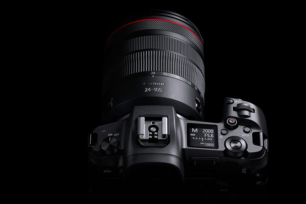 Photo of the EOS R from above
