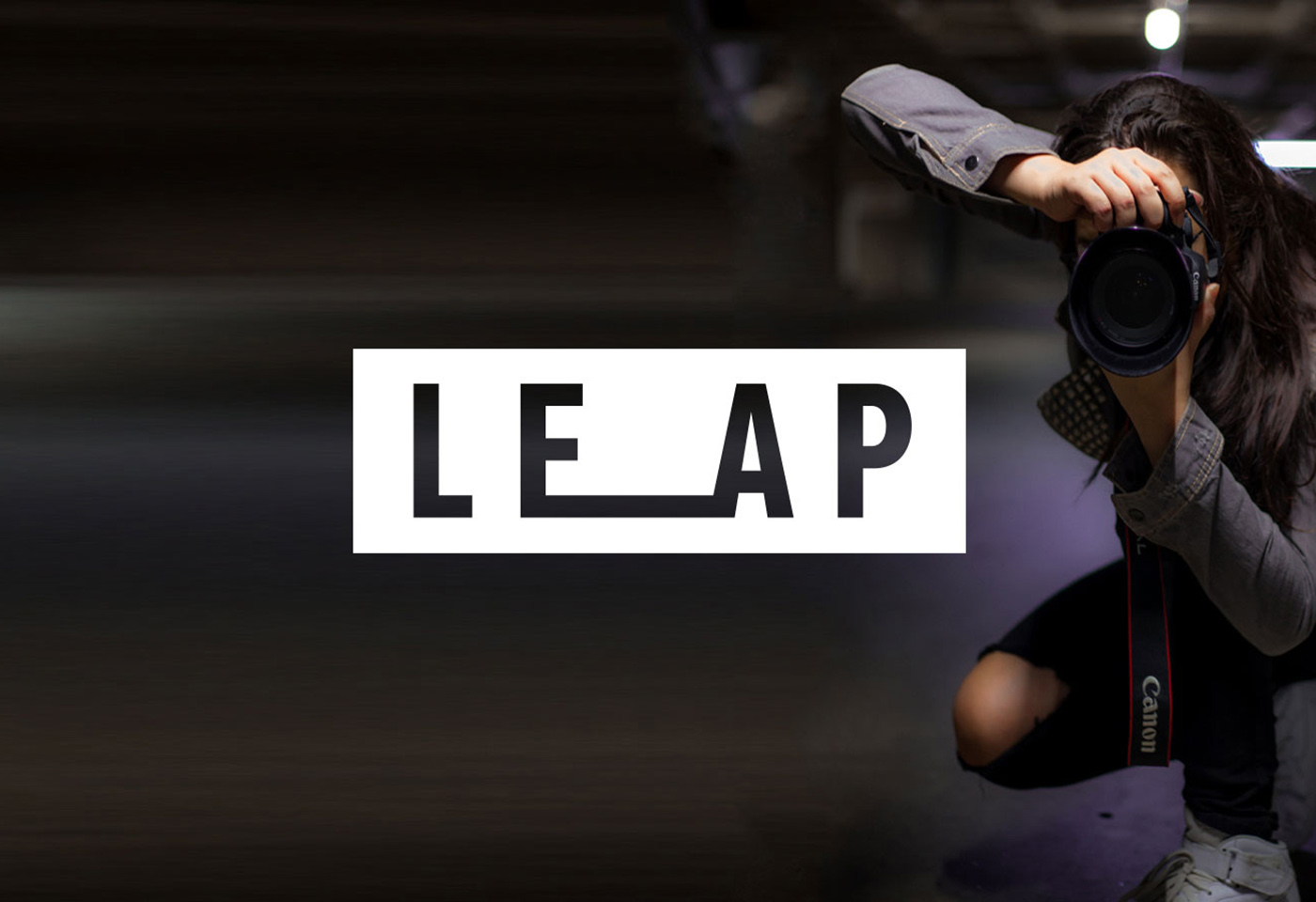 Image of Rachel Hau photographing for LEAP